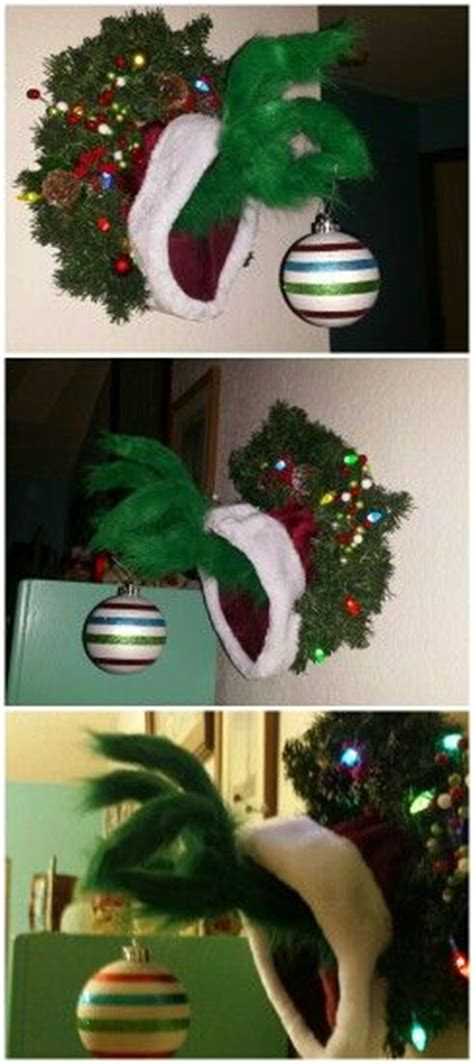 diy grinch christmas crafts and decorations sponge kids
