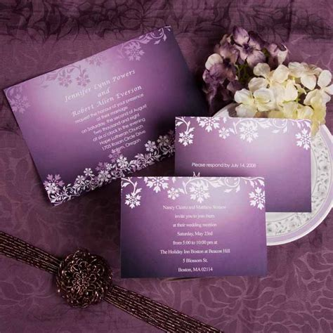 Purple Wedding Invitations by Purple Wedding Invitations And Wedding Ideas
