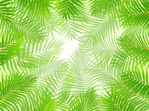 tropical green leaf elements vector background 01 vector