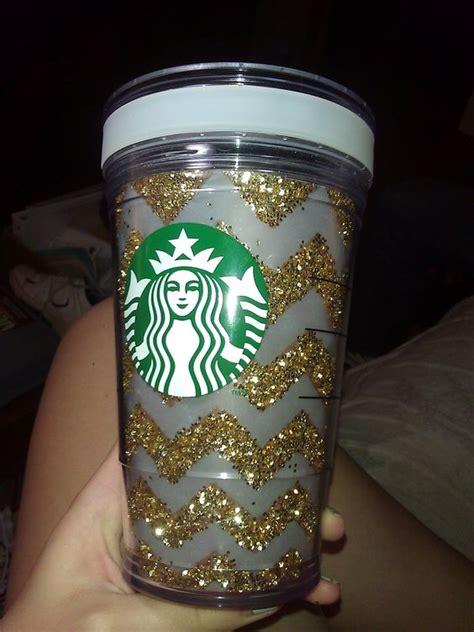 Starbucks Gliter Cold Cup diy glitter chevron starbucks cup you ll need starbucks create your own cold cup mines grande