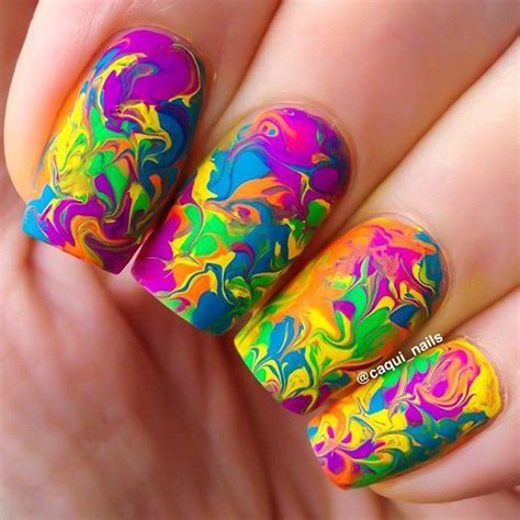 Water Pattern Nails | 18 unique water marble nail designs for 2016 pretty designs