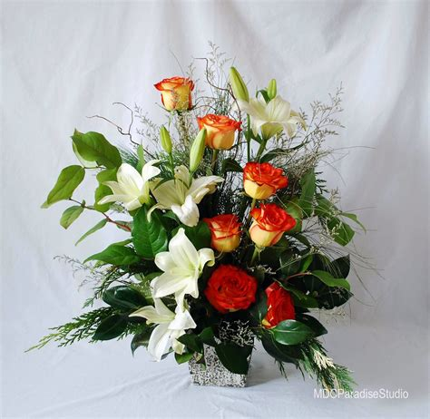 paradise floral studio christmas flower arrangements