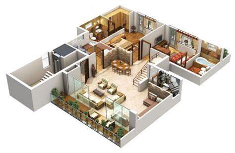 home design 3d tips 3 bedroom house floor plan 3d amazing architecture magazine