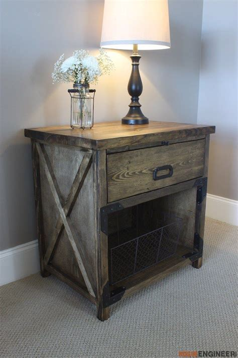 25 best ideas about rustic nightstand on pinterest