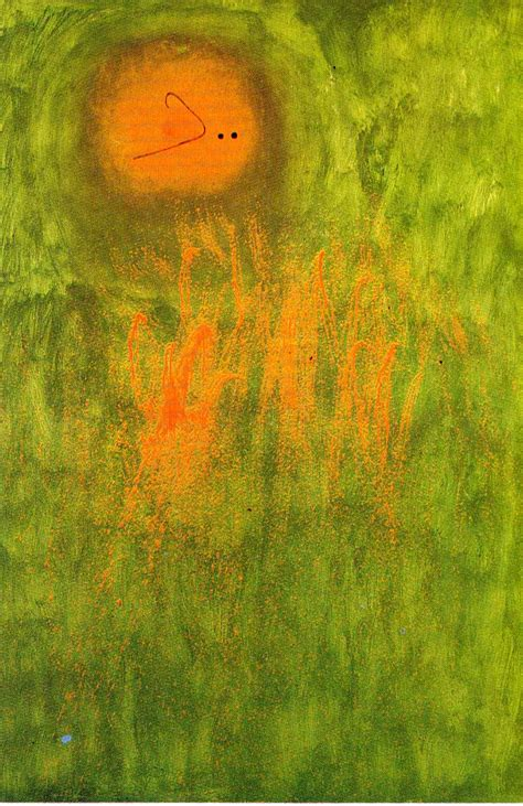 Joan Green hair pursued by 2 planets 1968 joan miro wikiart org