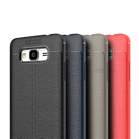 Ume Tpu Leather Samsung Grand Prime 1 litchi skin leather coated tpu for samsung galaxy j2