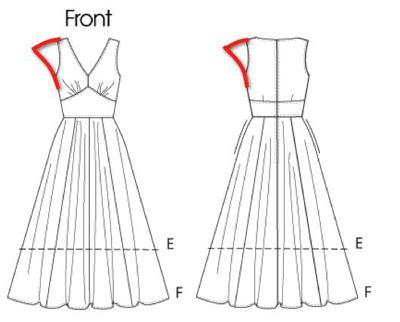 drawing a pattern for dress kimono sleeve drawing
