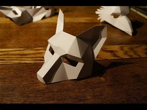 Papercraft Wolf Mask - just in time for low poly animal masks modular 4