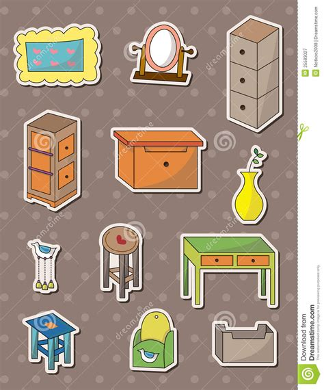 furniture stickers royalty free stock photography image 25583027