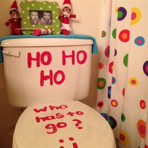 elf on the shelf bathroom elf on a shelf antic being silly in the bathroom