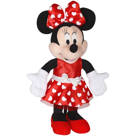 minnie mouse valentines disney large plush minnie mouse greeter 24in