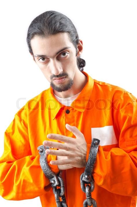 A White With A Criminal Record Is More Likely To Get A Convicted Criminal On White Background Stock Photo Colourbox