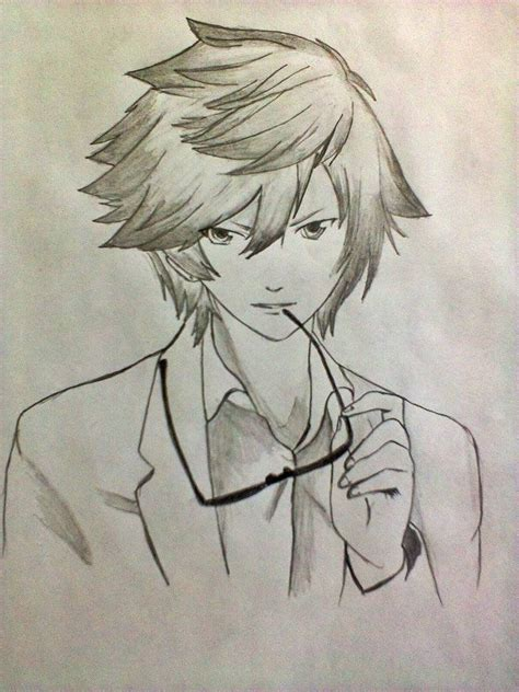 Anime Boy Sketches In Pencil Drawing Sketch Education Boy And Anime Drawing