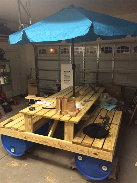 woodworking float build an awesome floating picnic table your projects obn