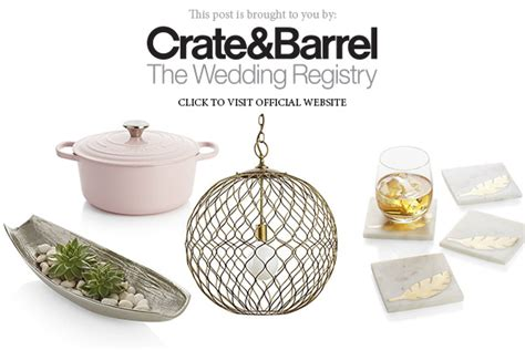 Where Can I Buy Crate And Barrel Gift Cards - crate and barrel the wedding registry bridal gift inspiration by color wedding