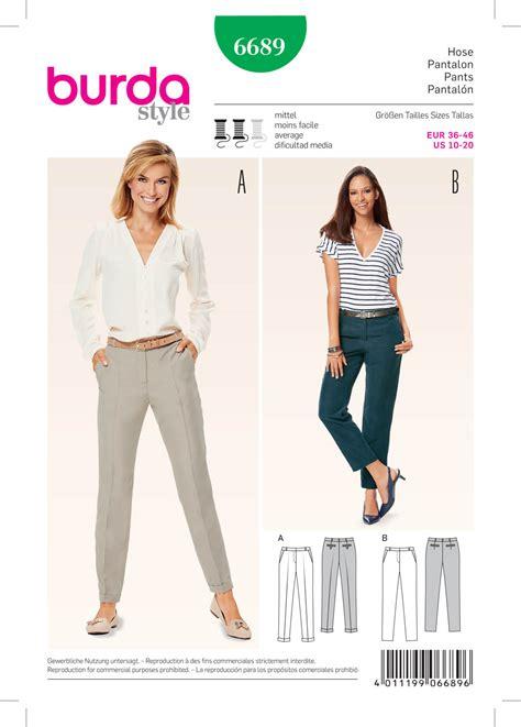 pattern of review article burda 6689 women s pants
