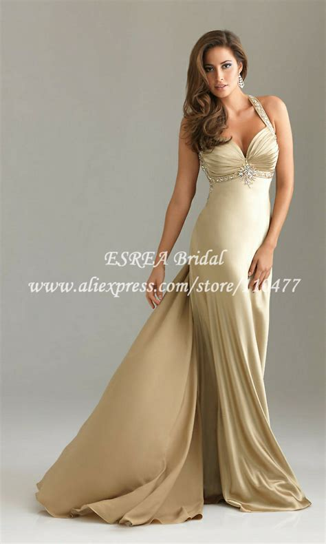 Longdress Sc 22050 dress pleated picture more detailed picture about bead satin evening dress