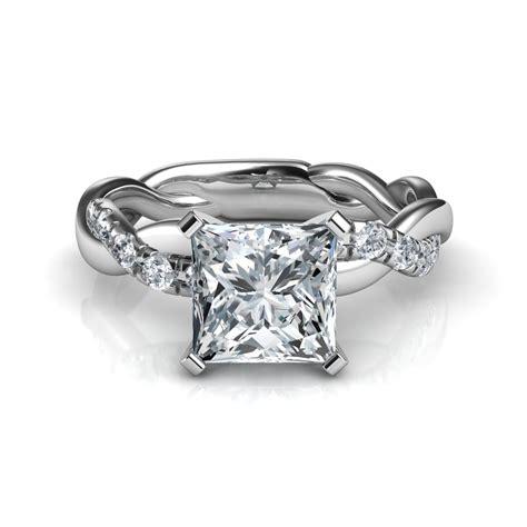 twist princess cut diamond engagement ring natalie