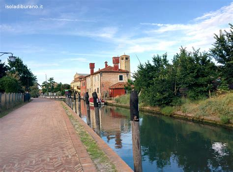 Colonial Style Homes by Torcello Island Of Venice Italy
