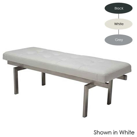 small white bench louve small bench white modern upholstered benches