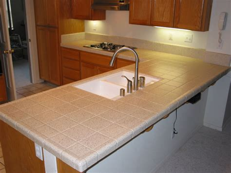 Tile Kitchen Countertops In Modern House Tiled Kitchen Countertops