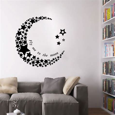 Wall Paper Wall Sticker Photo Wall Poppy 8 257 crescent moon living room bedroom pvc vinyl mural removable wallpaper wall stickers