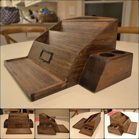 Desk Organizer Plans Wooden Poplar Desk Organizer Woodworking Projects