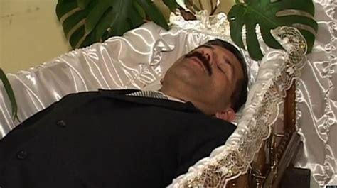famous people in their caskets coffin therapy ukranian stepan piryanyk helps customers
