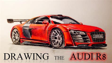 how to draw an audi r8 drawingforall net drawing the audi r8