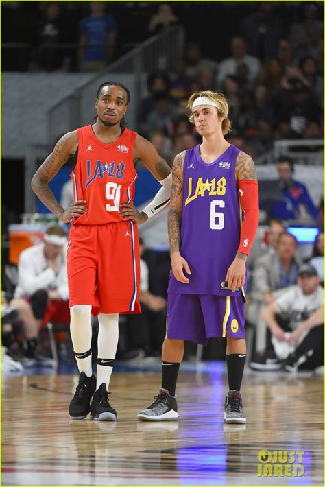 nba celeb all star game justin bieber plays in the nba all star game celebrity