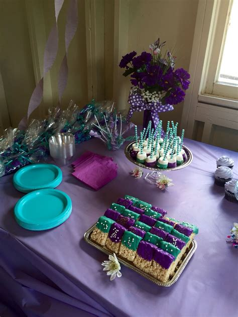 purple teal baby shower     baby