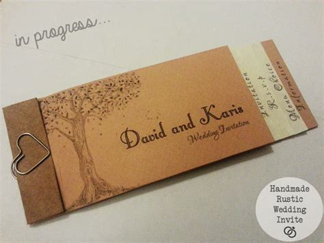 Wedding Invitations Booklet by Wedding Invitation 166 Diy Rustic Style Rustic Wedding