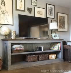 Rustic Kitchen Sideboard - remodelaholic build a farmhouse style tv console sideboard