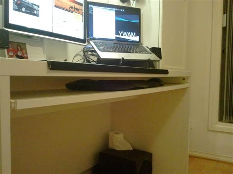 diy keyboard tray for ikea besta desk renovate australia