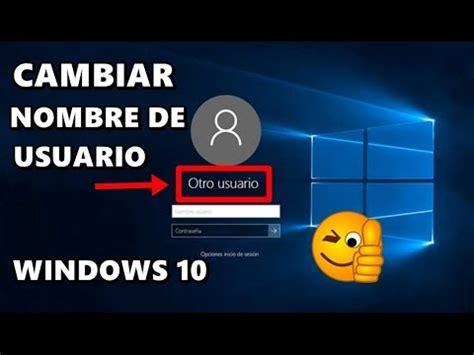 quitar imagenes cuenta windows 10 cambiar nombre de usuario en windows 10 doovi