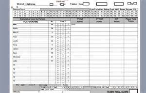 Official Basketball Score Sheet by Keeping The Basketball Scorebook