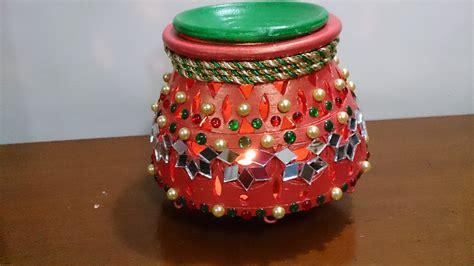 Pot Decoration by Garba Matka Earthen Pot Navratri Decoration Diwali Decor