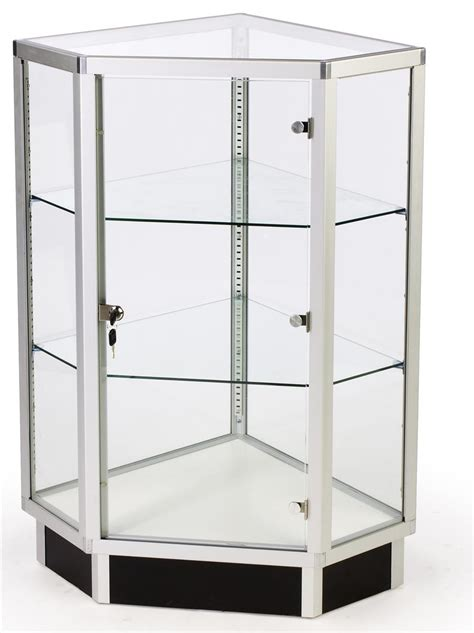 glass cabinets 28 quot corner display w hinged door