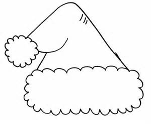 printable santa hat coloring pages coloring