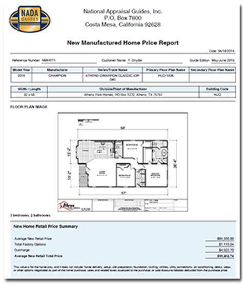new manufactured home price tool nadaguides
