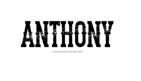 anthony name tattoo designs