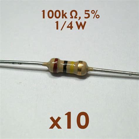 resistor 100k 1 watt 100k ohm 5 1 4 watt axial resistor 10 pcs nos