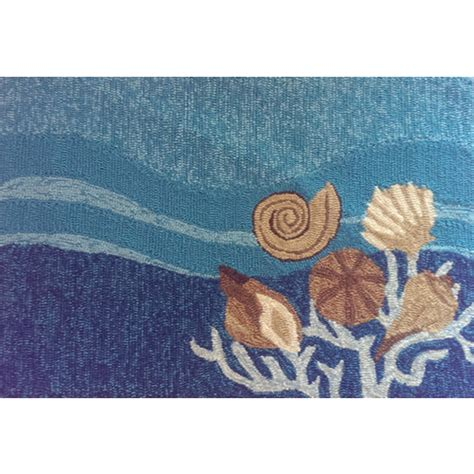 Shell Rugs by Shells And White Coral Indoor Outdoor Rug