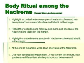 Ritual Among The Nacirema Essay by Ritual Among Nacirema Article