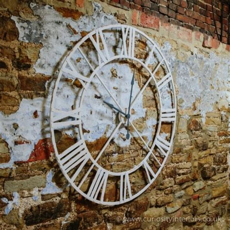 buy large white metal frame wall clock giant painted clock
