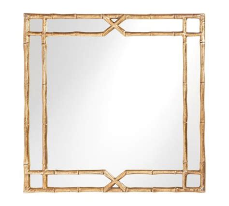 spiegelschrank bambus bamboo mirror pottery barn