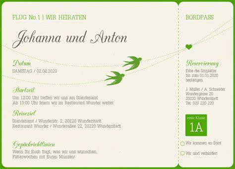 Hochzeitseinladungen Originell by Originelle Hochzeitseinladung Galerie Hochzeitsportal24
