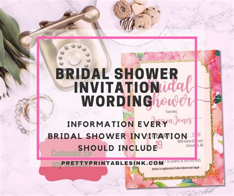 bridal shower invitations wording bridal shower invitation wording what you need to pretty printables ink