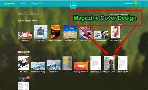 canva magazine layout free technology for teachers design magazine covers with