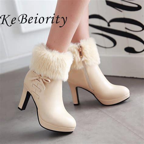 winter high heels boots new 2017 high heels boots autumn and winter boots